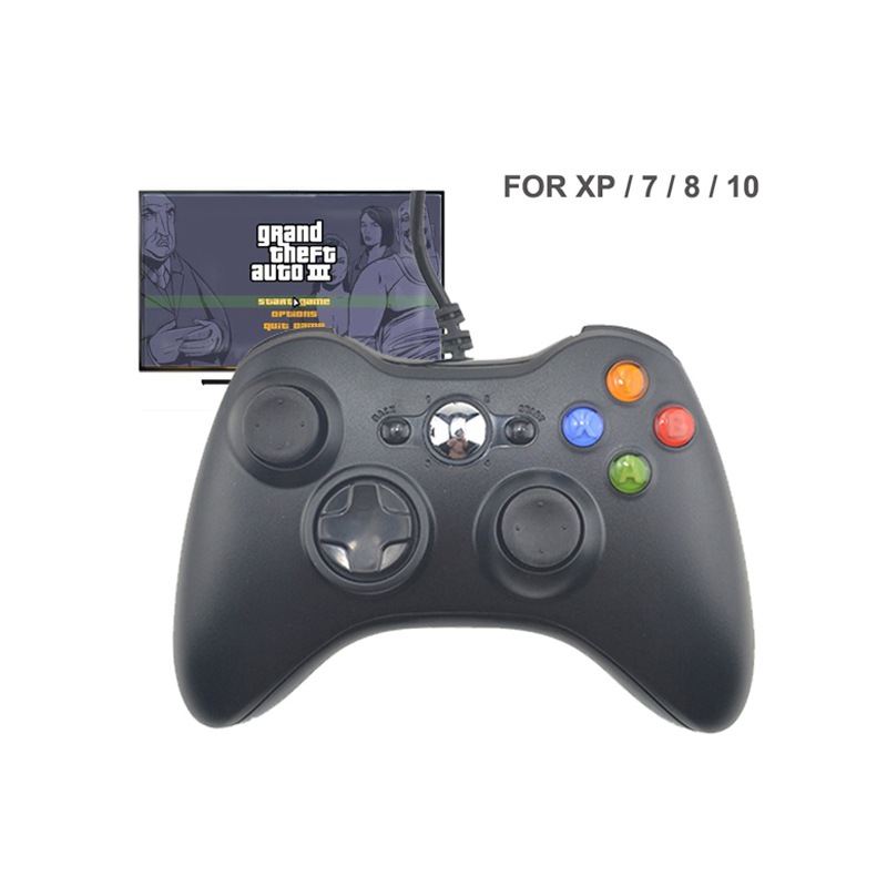 USB Wired Vibration Gamepad Joystick For font b PC b font Controller For Windows 7 8