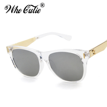 Who Cutie Hot Rays Sunglasses 2017 Versae Women Vintage Fashion Square Clear Frame Superstar Sun Glasses Shades Oculos OM79