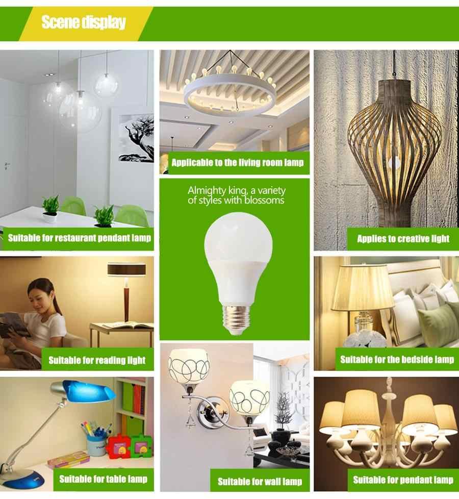 LED Lamp E27 LED Bulb Light B22 3W 5W 7W 9W 12W 15W 110v 220V Real Watt SMD2835 aluminum cooling High Bright Lampada LED lights