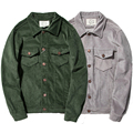Spring Autumn Fashion Grey Green Corduroy Jacket Men Vintage Retro Streetwear Japanese Urban Clothing Plus Size 5XL