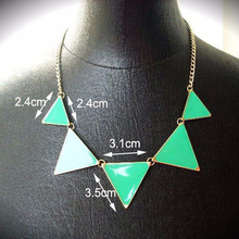 Black Geometrical Triangle Necklace