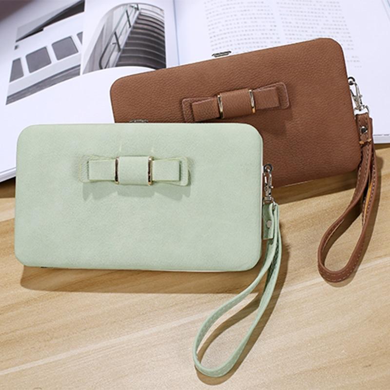 Bowknot Wallet Case Cover For Google 6P 5 5X Google Pixel 3 XL 2 XL Long Women Wallet Coin Purse Clutch Bag Phone Pocket