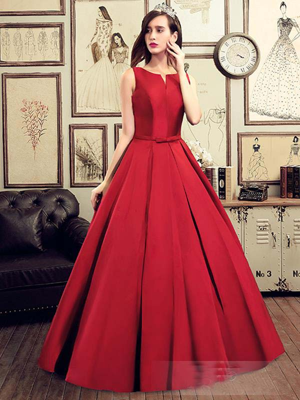hot sell long prom dresses 2016 draped wedding dinner dress simple red evening gowns ball gown