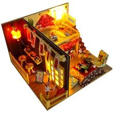 Cutebee Doll House Furniture Miniature Dollhouse DIY Miniature House Room Box Theatre Toys for Children DIY Dollhouse TD12 цены