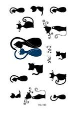 Rocooart HC151-175 Waterproof Fake Tattoo Styling Tools Stickers Snake Pistol Black Feather Temporary Tattoos Body Art Tattoo 44