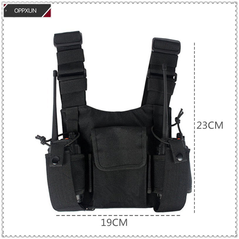 Common Walkie Talkie  Handstand Tactics Outdoor Brassiere Rescue Security Guard Brassiere Backpack For Kenwoood Motolao Baofeng
