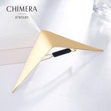 Модные металлические заколки для волос chimera золотые геометрические