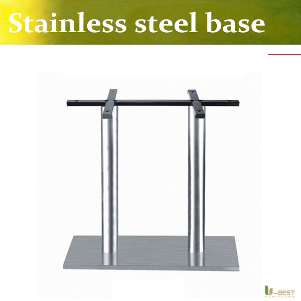 U-BEST Stainless Steel Table Base with double tubes,special column rectangle table base Snack table base