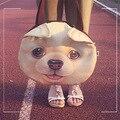 Nuevo estilo bolso de los bolsos de mujer Animal encantador de La Impresión bolsa de hombro de las mujeres dog face mujeres femme sac a principal bolso