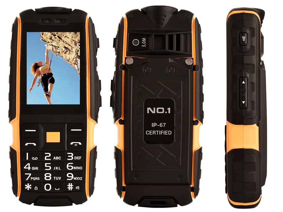 Original NO 1 a9 IP67 Waterproof shockproof Dual SIM Card mobile cell phone 4800mAh battery FM