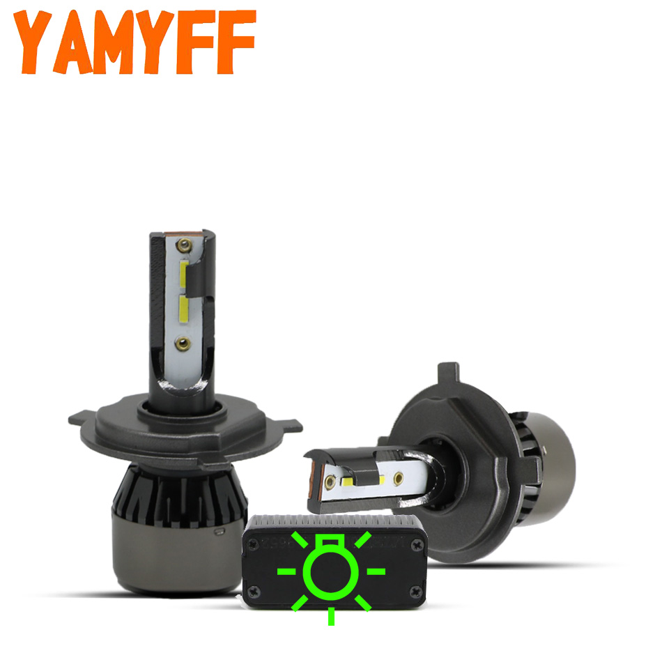 YAMYFF Canbus H7 <font><b>LED</b></font> <font><b>H4</b></font> <font><b>LED</b></font> H1 Car Headlight H11 H8 H9 Mini Car Lamp 6000K <font><b>10000LM</b></font> Auto Headlamp 12V Fog Light Bulb No Error image