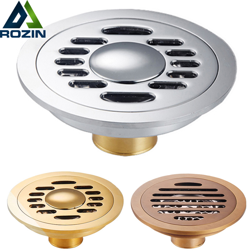 Free Shipping 10 Cm Brass Round Floor Drain Cover Shower
