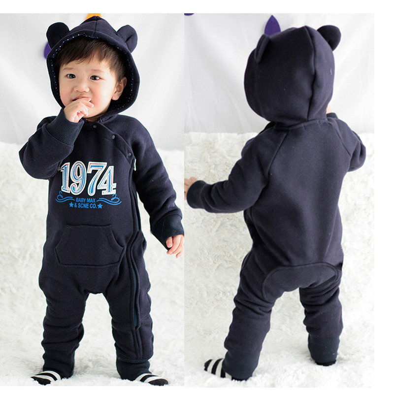Newborn baby Girl rompers boy clothes Jumpsuit costume Baby costume animal romper Winter cotton Stitch with hat free shipping newborn baby rompers baby clothing 100% cotton infant jumpsuit ropa bebe long sleeve girl boys rompers costumes baby romper