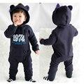 Ropa de niño recién nacido del bebé de los mamelucos Del Mono traje de Bebé traje animal mameluco del Invierno de Punto de algodón con el sombrero envío gratis