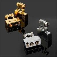 KROAK 2 Pcs 4 8 Awg Auto Car Positive Negative Battery Terminal Platinum Silver Gold Adapters