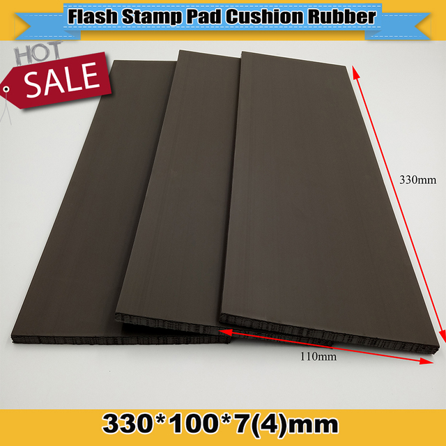 2pcs 330x110x7or4 Mm Flash Stamp Pad Cushion Rubber Plate Materials Photosensitive Self