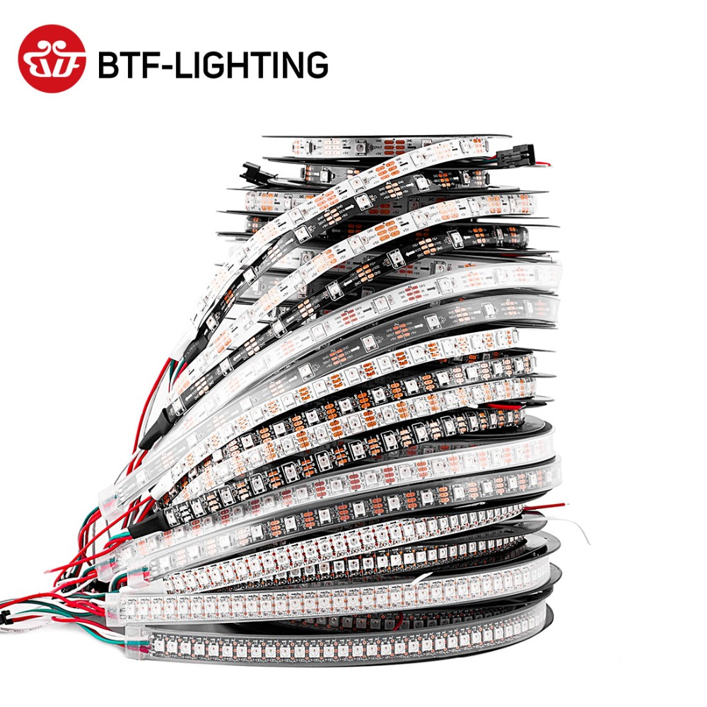 1m/2m/4m/5m WS2812B Led Strip 30/60/74/96/100/144 pixels/leds/m WS2812 Smart RGB Led Light Strip Black/White PCB IP30/65/67 DC5V lift kit for toyota hilux revo