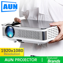 Brand AUN 1920*1080 Projector. 3,800 Lumens, AKEY5 UP. Full HD Android Projector with WIFI,Bluetooth. (Optional AKEY5 )