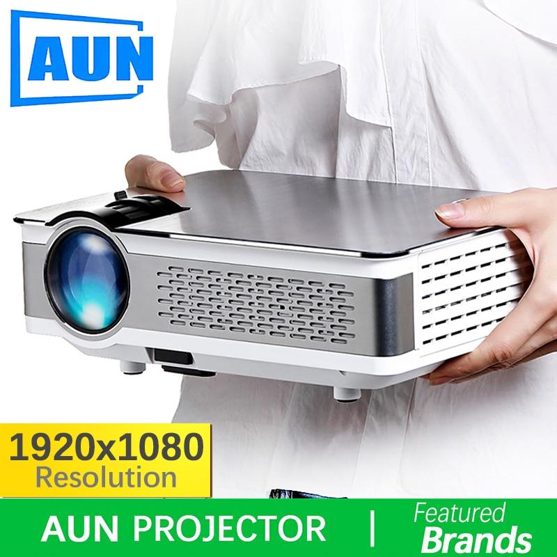 Marque AUN 1920*1080 Projecteur. 3,800 Lumens, AKEY5 UP. Full HD Android Projecteur avec WIFI, Bluetooth. (En option AKEY5)