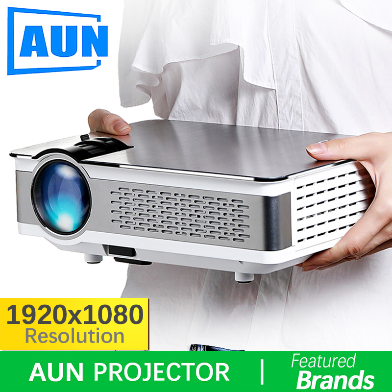 Marque AUN 1920*1080 Projecteur. 3,800 Lumens, AKEY5 UP. Full HD projecteur android avec WIFI, Bluetooth. (En option AKEY5)