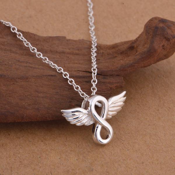 Angel Wings Eternal Love Infinity Necklace