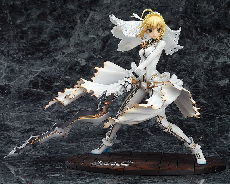 SAINTGI Saber Fate/Apocrypha Grand Order Nero Wedding dress Action Figure Game toys PVC 22CM Collection Model
