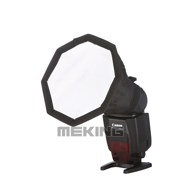 14cm / 5.5inch Fordable Flash Speedlite Mini octagonal soft box Softbox Diffuser Portable Light Control Gear for Canon Nikon