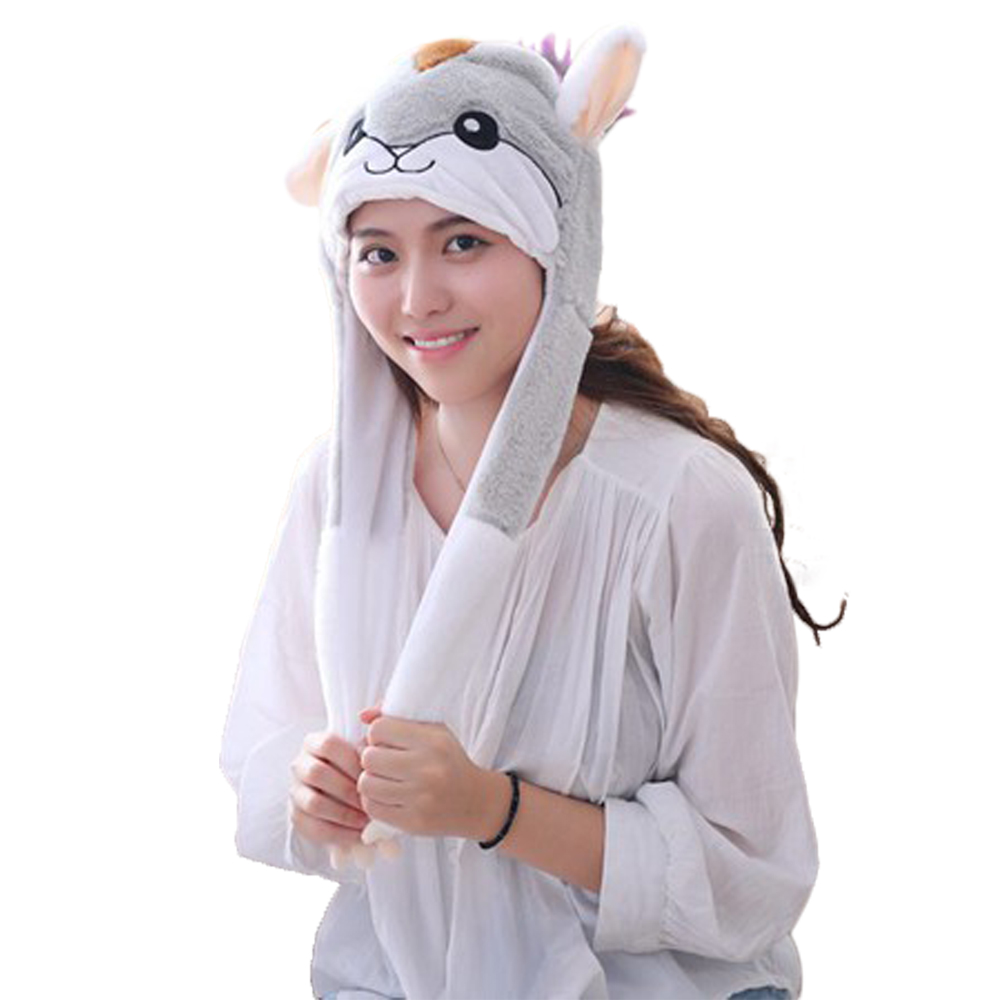Children Corgi Animal Hat Hood Scarf Corgi Hats Caps Winter Warm Plush Earmuff Beanies Helmet Mittens Hooded For Kids Child Costumes & Accessories Novelty & Special Use