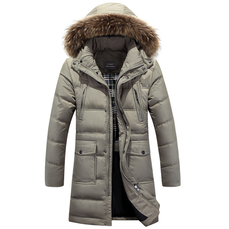 Winter Jacket Men Brand White Duck Down Long Jackets Keep Warm Coat Casual Mens thick Down coat Jackets parka homme Brand