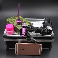 2016 Newes 10mm E nail Dab Kit ArmyGreen Electric Nail with Pink Color Titanium Carb Cap Heater Coil for Christmas gift