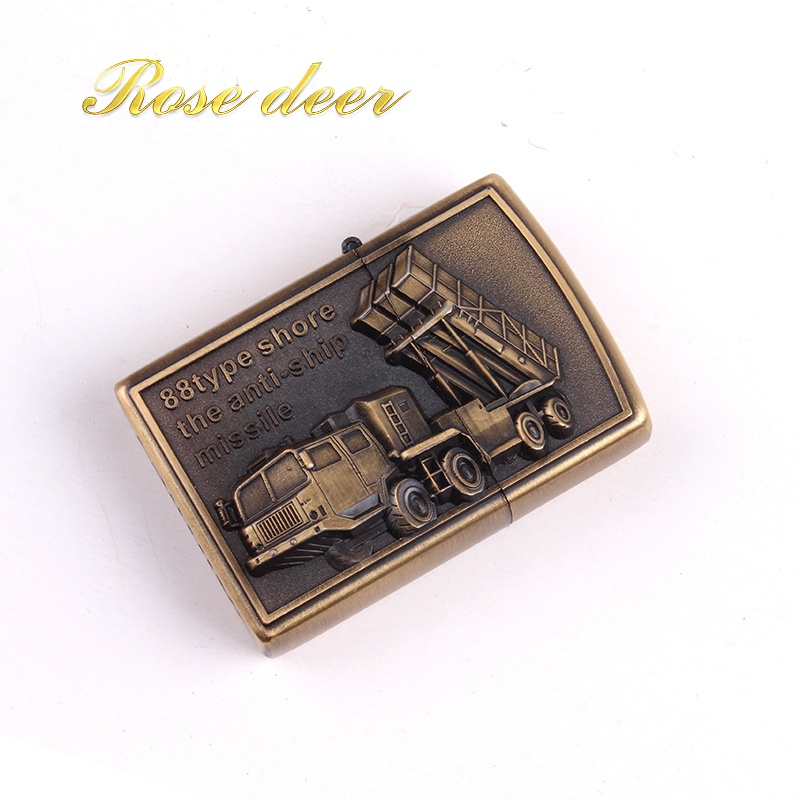 Metal attached present hell detective War chariot kerosene lighter Windproof Smoking konstantine Vintage Style oil Lighter