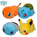 New Poke Lying Pikachu Charmander Squirtle Bulbasaur Plush Toy Anime Baby Dolls Kids Gifts 23cm Brinquedos Bonecas Collection