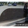 Acessórios do carro Filme Adesivo Sun Sombra Cortina Ventosa Proteção UV Side Janela Etiqueta Do Carro Adesivo 63 cm * 42 cm 4 pcs Por Conjunto