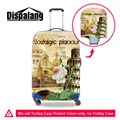 Thick Elastic Stretch Luggage Protective Cover With Zipper For 18-30 Inch Trunk Case Famous Site Print Waterproof Suitcase Cover
