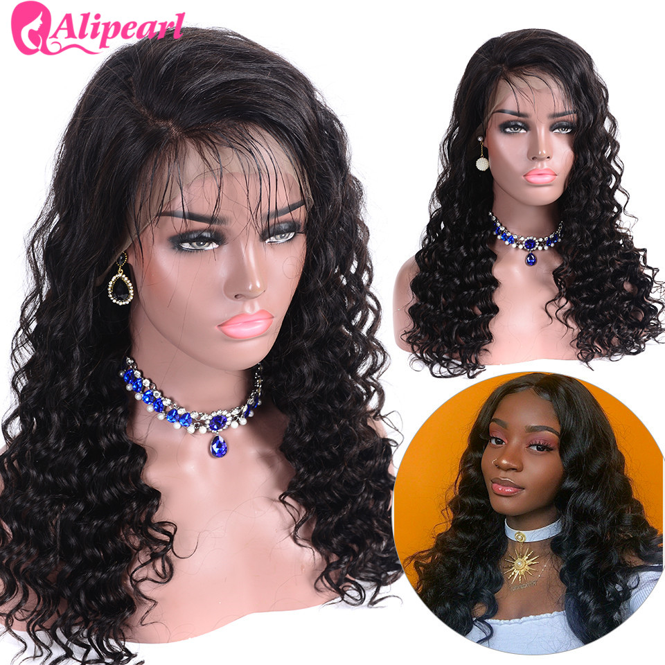 Loose Deep 360 Lace Frontal Wigs Pre Plucked Lace Front Human Hair Wigs 150 Percents 180 Percents 250 Percents Density Brazilian Wigs Remy Ali Pearl Hair by Ali Pearl