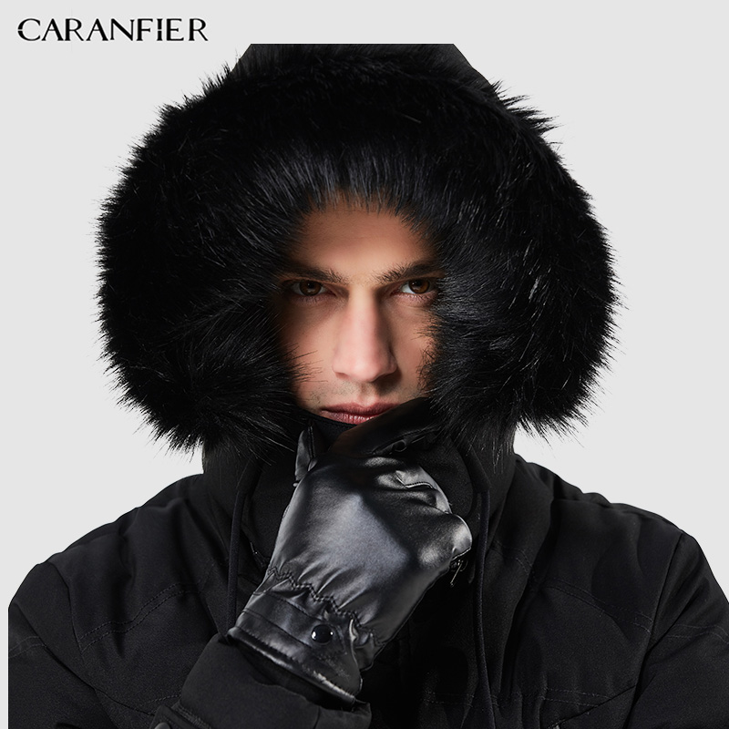 525885dc64 Αγορά Σακάκια & παλτά | CARANFIER Winter Men Parka Jacket Long Coat Male  Thick Cotton-Padded Jacket High Quality Parka Coat Male Fashion Casual Coats