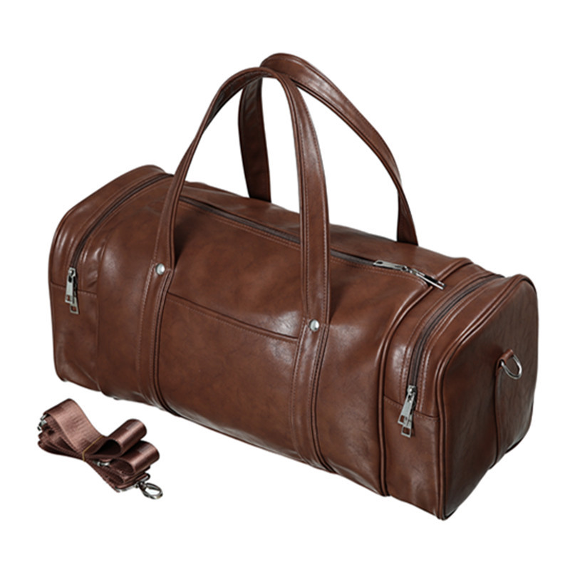 New Arrival Leather Travel Bags for Men Large Capacity Portable Male Shoulder Bags Luxury Men's Handbags Vintage Travel Duffle
