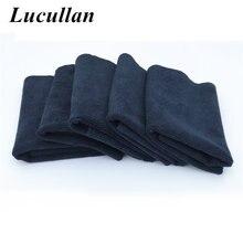 Lucullan 40x40cm 450gsm monstro preto edgeless toalha de microfibra para tintas macias cera e remoção de polimento