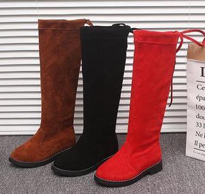 Image 4 - الركبة عالية الفتيات الأميرة الأحذية الخريف الشتاء الأطفال سميكة الحرارية الدافئة الأحذية حجم 26 36 أسود براون الأحمر الفتيات أحذية عالية