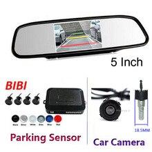 Автомобилей визуальный парковка Сенсор зеркало заднего вида радар парктроник с камера заднего вида слепой датчик Парковочные системы
