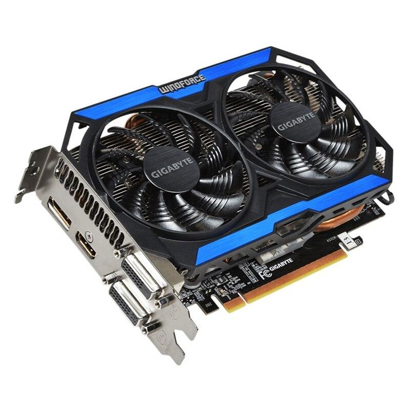 GIGABYTE D'origine GPU GTX 960 4GD5 Vidéo Carte 128Bit GM206 GDDR5 Cartes Graphiques Pour NVIDIA Carte Geforce GTX960 4 GB GV-N960OC-4GD - 2