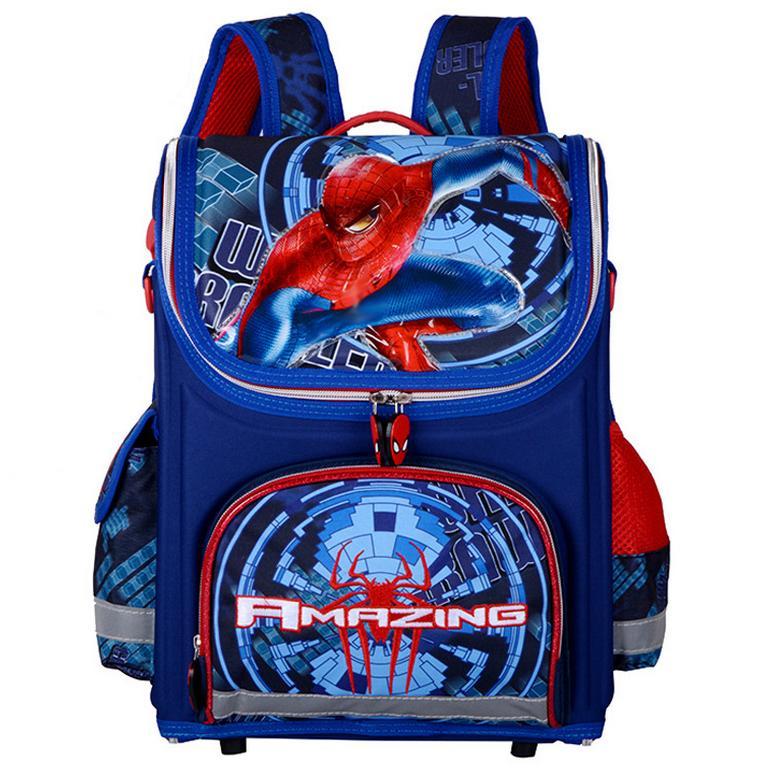 19d5c91ec Sacos de Escola 2018 Crianças Para Meninos Spiderman Ortopédica Mochilas À  Prova D' Água Saco de Livro Satchel Mochila Mochila Escolar