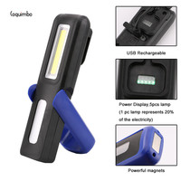 Coquimbo 1 XPE 1 COB LED USB Rechargeable Flashlight Ultra Bright Torch Light Built In Battery