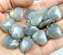 Natural stone Turquoises labradorite Quartz crystal tiger eye Opal heart Pendant for diy Jewelry making earring necklace 24pcs