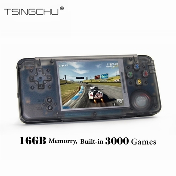 TSINGO Retro Game Console Built-in 3000 Classic Games 64bit 16GB Multifunction Portable Handheld Game Player TV Output Best Gift Тахеометр