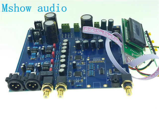 US $148 99  NEW Dual AK4497 DAC AK4118 AK4497EQ DSD Native DAC 32Bit 384KHz  HIFI AUDIO OPTION xmos or Amanero USB-in Digital-to-Analog Converter from