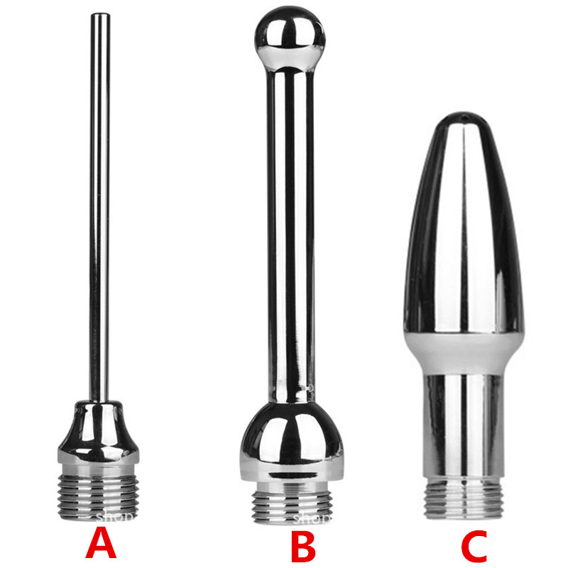 Buy Anal Shower Enema Cleaning Backstage Anus Vaginal Nozzle Sprayer Stainless Steel Anal Sex Toy Couples H8-4-6