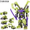Big Size 42 CM Big Size Brinquedos Figuras de Ação de Classe Lenda 6 em 1 Anime Deformação Robô Modelo de Carro Engenharia Boy Toys Presente