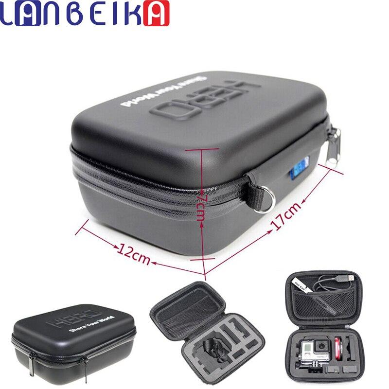 LANBEIKA Stoßfest Wasserdichte Portable Hard Case Box Bag EVA Schutz Für SJCAM M20 SJ4000 SJ5000 SJ6 Go Pro Hero 6 5 4 3 +