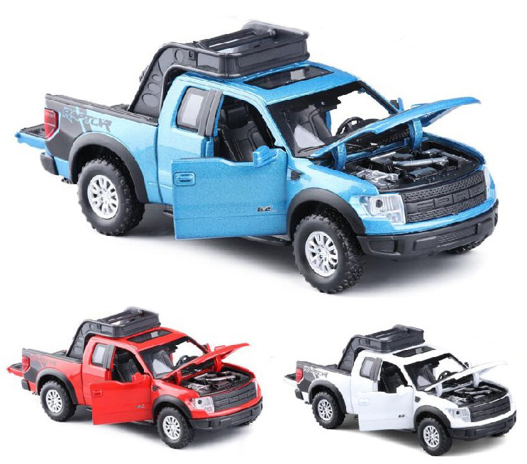 High Simulation Exquisite Model Toys Car Styling 1:32 Ford F150 Raptor Pickup Trucks Alloy Car Model Best Gifts